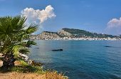 Palma On The Sea Shore And View Of The Capital Of Zakynthos Island In Greece poster