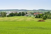 Idyllic Rural Scenery In Hohenlohe, A Area In Southern Germany poster