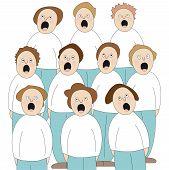 stock photo of glorify  - illustration of people singing in choir - JPG