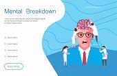 Web Page Of Mental Breakdown. Metaphor Of Split Personality Disorder, Borderline Disorder, Schizophr poster