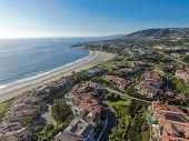 Aerial View Of Salt Creek And Monarch Beach Coastline. Small Neighborhood In Orange County City Of D poster