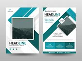 Blue Abstract Triangle Annual Report Brochure Design Template Vector. Business Flyers Infographic Ma poster