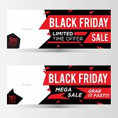 Black Friday Sale Banner. Black Friday Sale Banner Vector Design Template For Website, Ad. Origami B poster