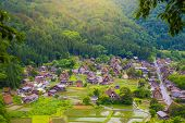 Landscape Traditional And Historical Japanese Village Shirakawago In Gifu Prefecture Japan, Gokayama poster