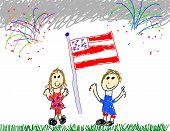 Kids Showing American Patriotism