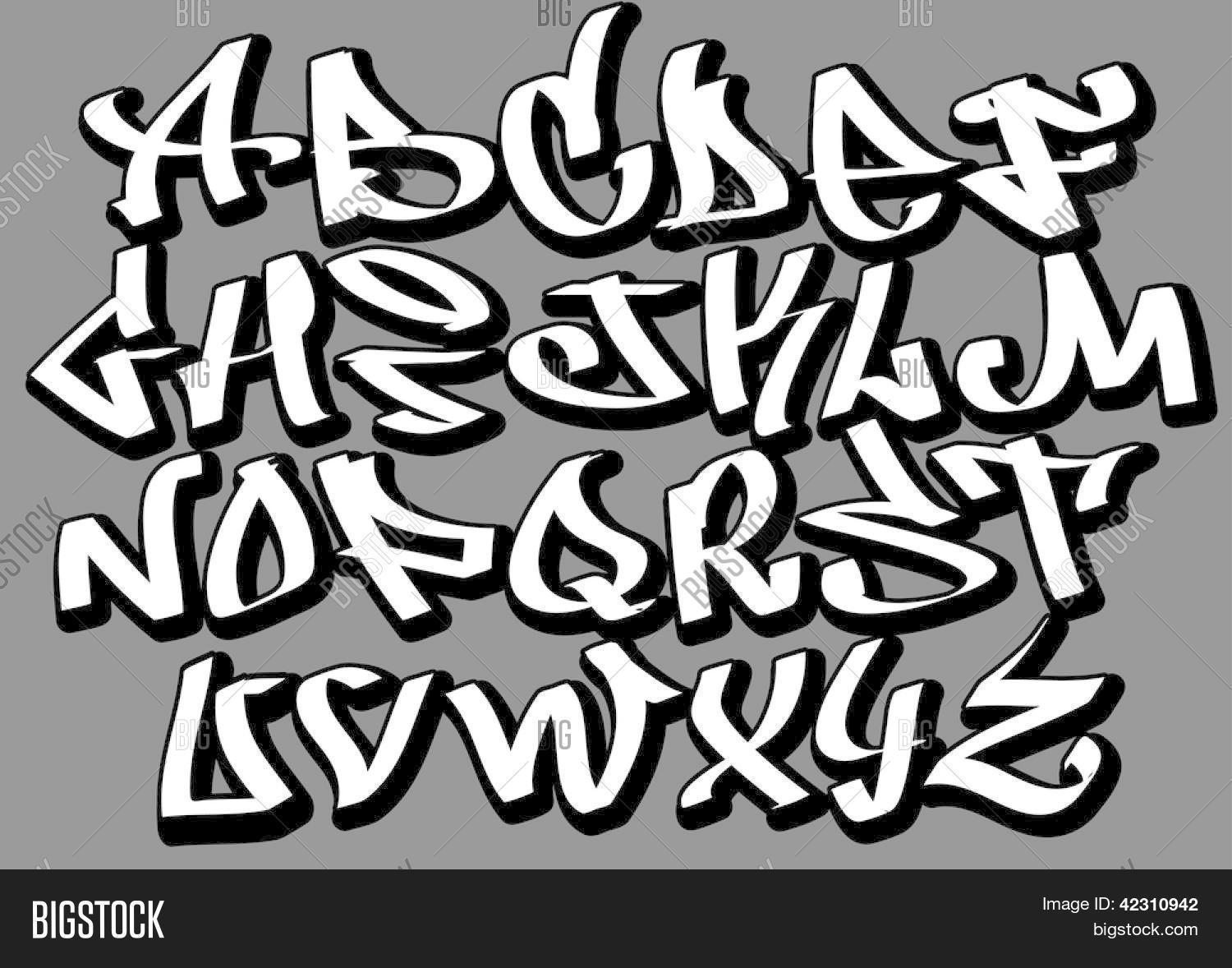 Preferenza Graffiti Font Alphabet Letters. Vector & Photo | Bigstock TI22