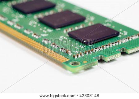 Módulo de memória RAM closeup