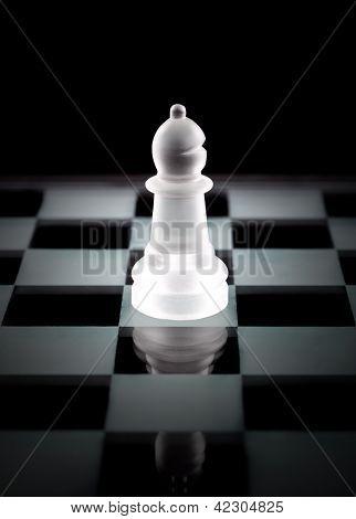 Bishop Chess Piece Over Black Background