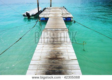 Beautiful beach jetty at Perhentian islands, Malaysia