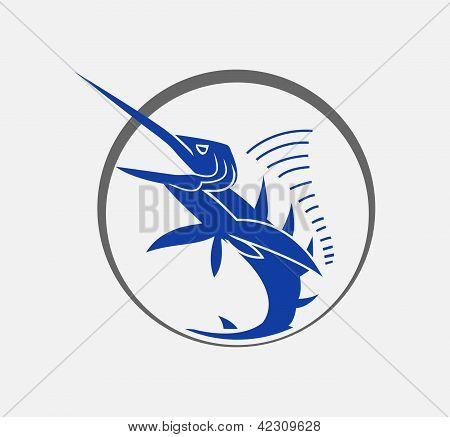 Peixe grande marlin