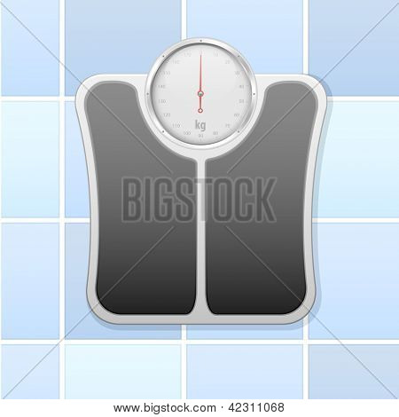 detailed illustration of an analog bathroom scale, eps 10