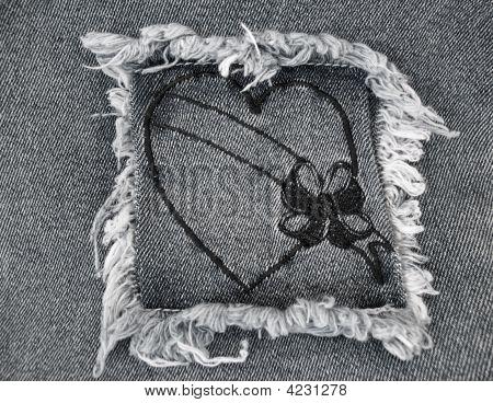 Black Denim Heart 2