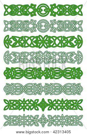 Green Celtic Ornament Elements