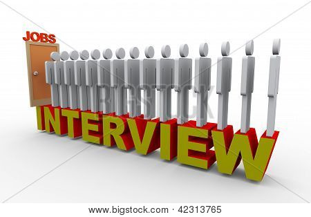 3D People Job Interview