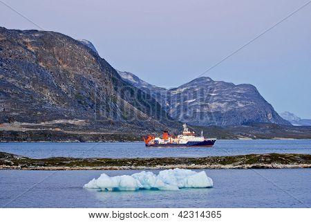 Vessel in Arctic Harbor