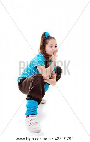 cool confident kid child or girl