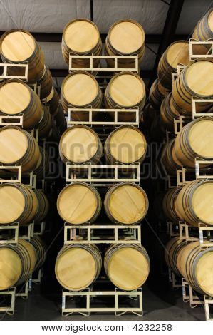 Wine Barrels Straight View
