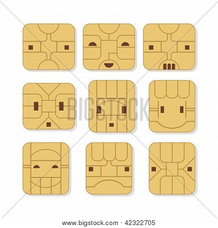 Sim Card Faces