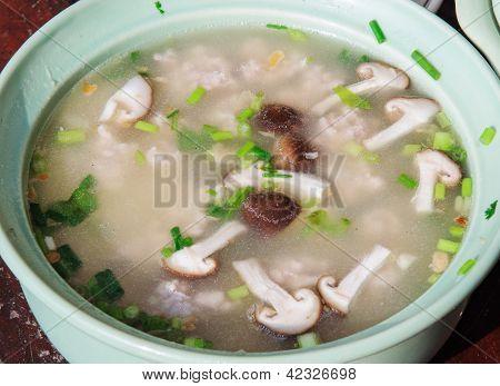 Thai Gruel With Mushroom