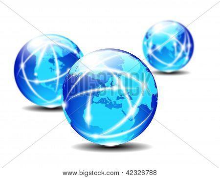 Europe Global Communication Planet Data