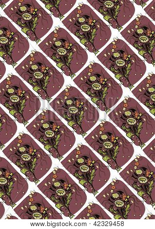 seamless abstract pattern depicting flowers