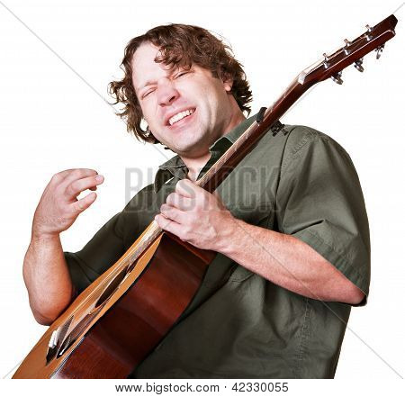 Excited Guitar Player