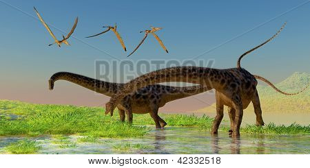 Diplodocus Feeding