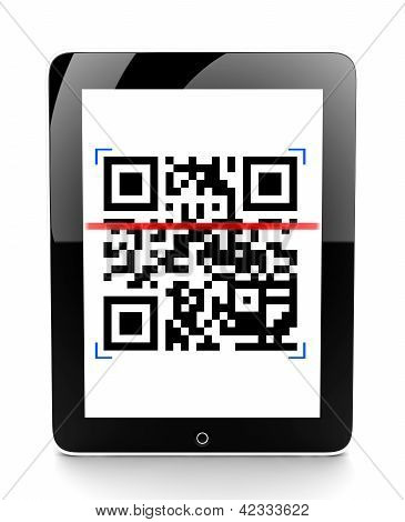 Tablet Scanning A Code