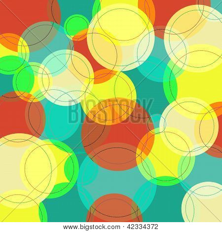 Abstract background with many colorful circles