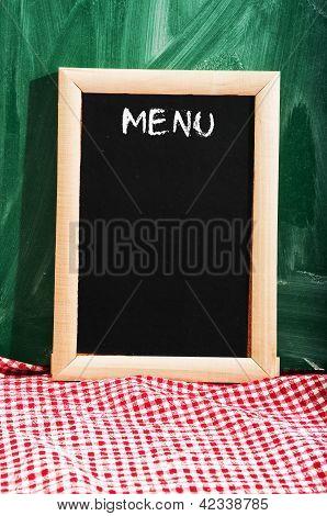 Menu On Restaurant Tavle