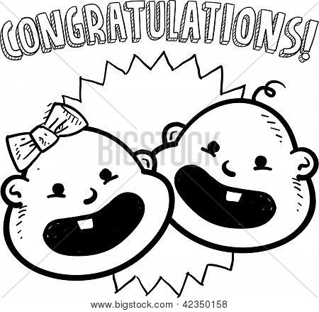 Baby congratulations sketch