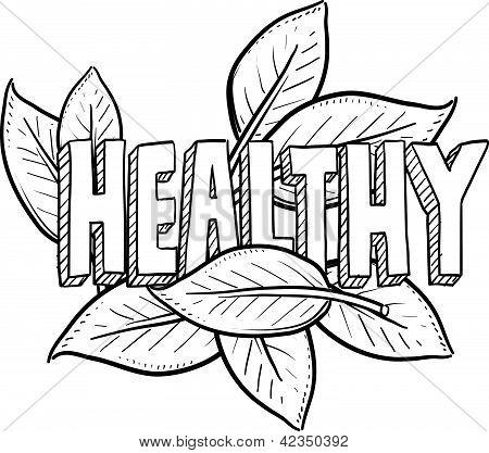 Healthy food sketch