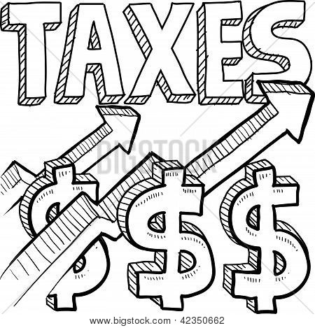 Taxes increasing sketch