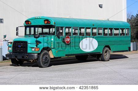 School Bus of Bright Teal