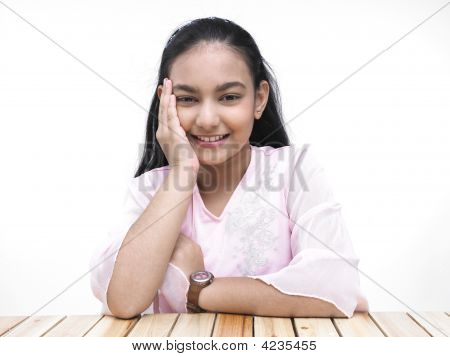 Portrait Of An Asian Teenage Girl