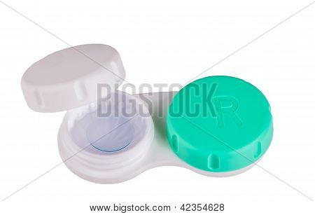 Contact Lens Case With Contact