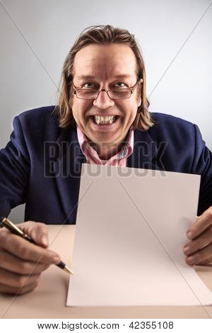 Manager With A Blank Contract