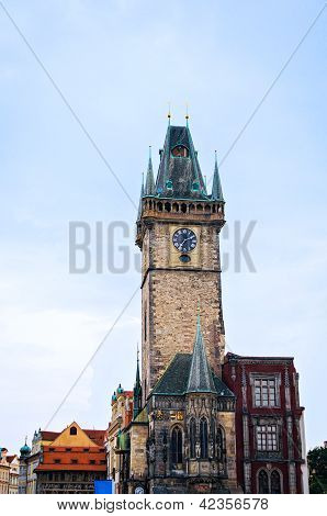 Astronomical Clock On Old Town Hall Tower In Prague