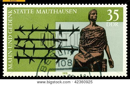 Vintage  Postage Stamp.  Mauthausen Memorial.