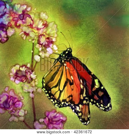 Monarch Butterfly - Watercolor Painting