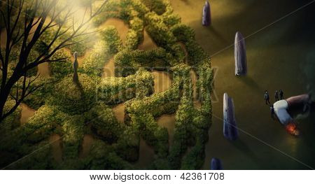Garden Mandala - Digital Painting