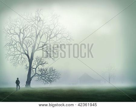 Morning Mist - Digital Painting