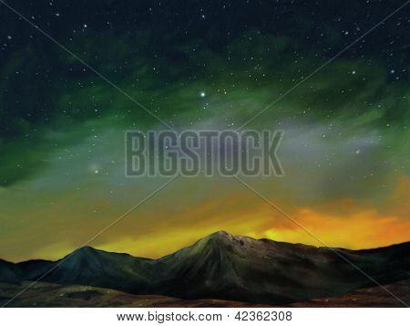 Cosmos - Digital Landscape Painting