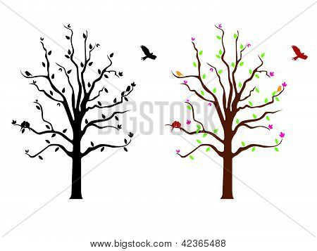 Branch Flowers Wall Decal