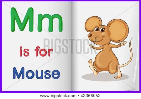 Alphabet worksheet for the letter M