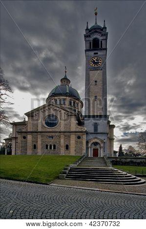 Tower And Clock  Zurich Switzerland