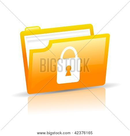 Personal data protection vector icon