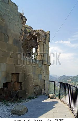Exterior Of Ruins Of Jvari, Which Is A Georgian Orthodox Monastery Of The 6Th Century Near Mtskheta