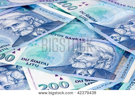 Lithuanian Currency Background