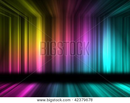Many color lines with 3d effect